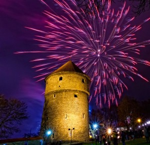 Салют на Новый год в Таллине